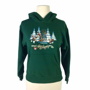 Walt Disney World Christmas Green Hoodie 2004